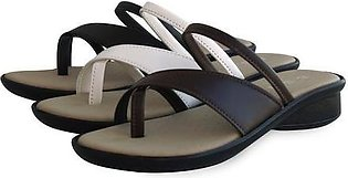 """2"""" Inches Ladies Slippers Black, Brown & White"""