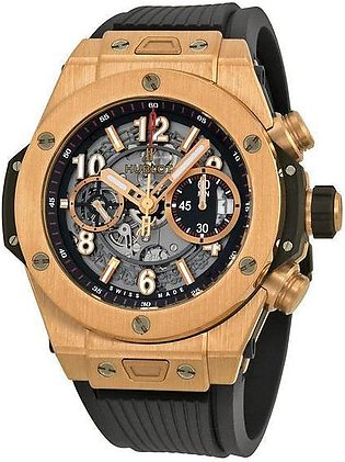 Hublot Big Bang Skeleton Dial Rose Gold Men's 7 Star Watch