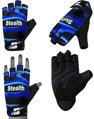 Weightlifting gym gloves Blue