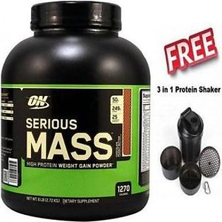 Serious Mass - Chocolate - 6 lbs - with premium shaker