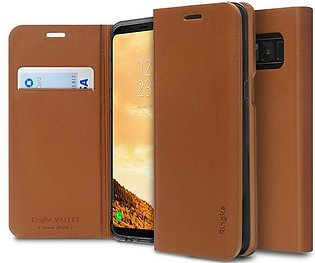 Samsung Galaxy S8 / S8 Plus Ringke Wallet Fit Flip Cover Leather Case