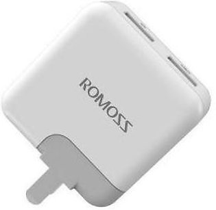 Romoss AC12S ICharger Compact Design 12W Dual USB Charger For iphone & Android