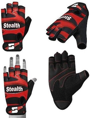 Weightlifting gym gloves Red