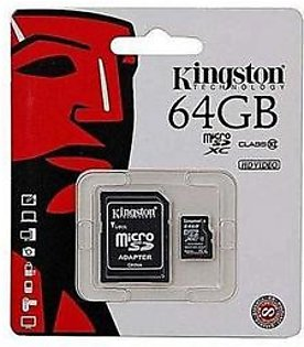 Kingston 64GB Micro SD Memory Card with Adapter