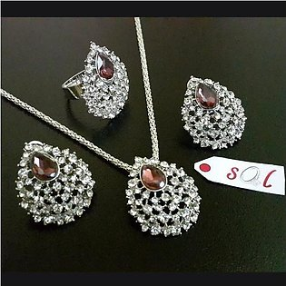 Stunning Jewellery Set with Flexible Ring in Light Weight
