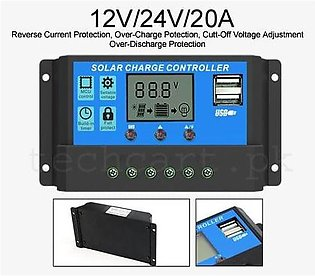 PWM Solar Charge Controller 12V/24V/20A