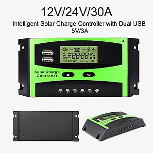 Solar Charge Controller PWM 12V/24V/30A