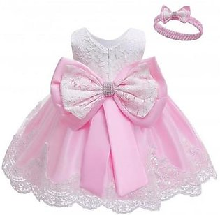 Keaiyouhuo Shrimp Pink Polyester Princess Dress