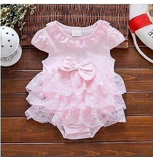 Pearl Diary Pink Baptism Gown Baby Girl Dress