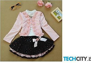Pink Active Pullover Cotton Baby Dress