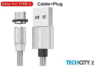 Uslion Silver Magnetic Type C Usb Fast Charging Data Cable
