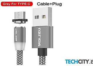Uslion Gray Magnetic Type C Usb Fast Charging Data Cable