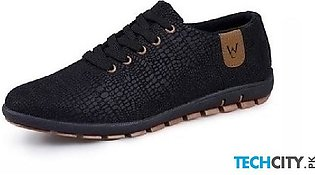Black Breathable Casual Canvas Shoes