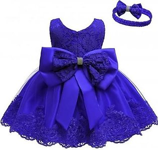 Keaiyouhuo Dark Blue Polyester Princess Dress