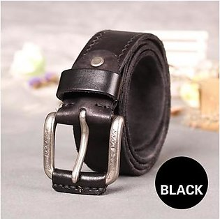 HREECOW Cow Leather Strap Vintage Pin Buckle Belt
