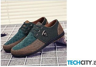 Coffee Green Canvas Shoes
