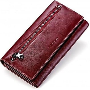 KAVIS Red Leather Stylish Design Wallet