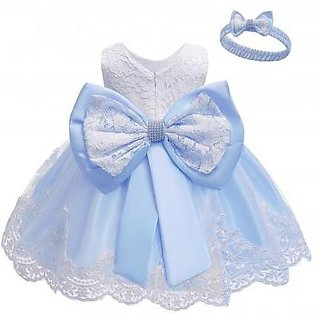 Keaiyouhuo Sky Blue Polyester Princess Dress