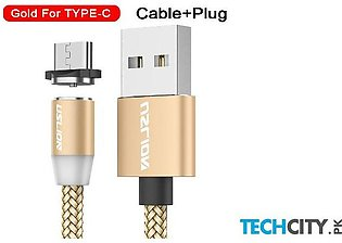 Uslion Golden Magnetic Type C Usb Fast Charging Data Cable
