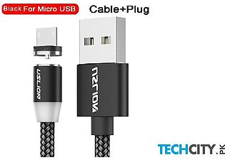 Uslion Black Magnetic Usb Fast Charging Data Cable