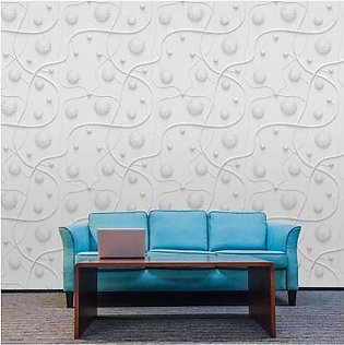 3D White Style Wallpaper BNS-343