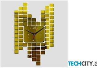 Gold Mirror Sticker Wall Clock