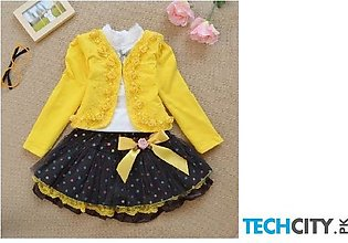 Yellow Active Pullover Cotton Baby Dress