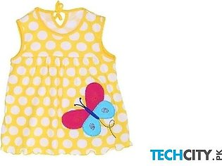 Rosmitte Yellow Butterfly Polyester Round Baby Dress