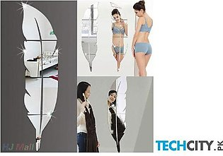 Feather Style Acrylic Mirror Wall Stickers