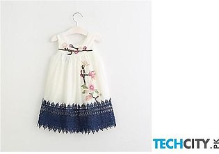 Szyadeou White Floral Cotton Baby Dress