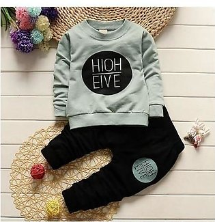 DANEL Army Green Long Sleeved Tops Pants Baby Girl Dress
