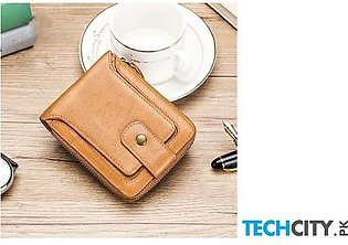 Yicheng Yellow Genuine Leather Wallet
