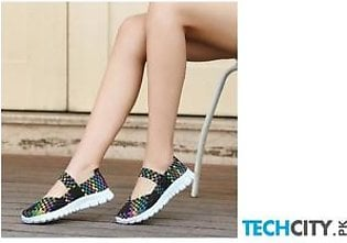 Handmade Comfortable Woven Ladies Shoes AT-989