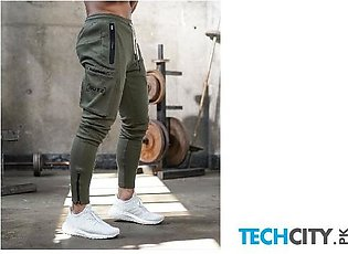 Gymcucgv Army Green Pockets Cotton Midweight Sweat Pants