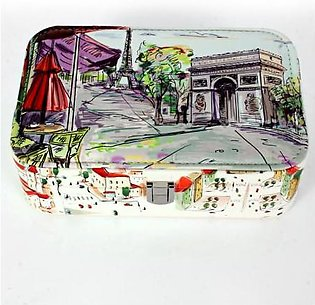 France Painting Printed Stylish Makeup Box GL-1236