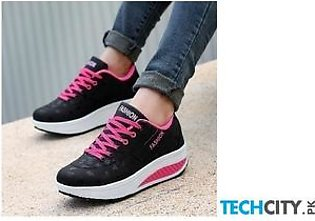 Breathable Ladies Running Wedges Sport Shoes AT-890