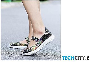 Handmade Comfortable Woven Ladies Shoes AT-983