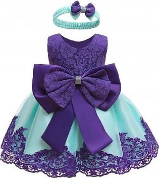 Keaiyouhuo Purple Polyester Princess Dress
