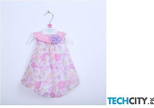 Liligirl Pink Baby Girls Floral Sleeveless Dress