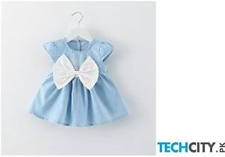 BarbieRabbit White O-Necklace Baby Girl Dress