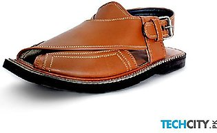 Brown Leather Handcrafted Kaptaan Chappal HCL-003