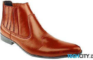 Mustard Brown Leather Cow Boy Boots LC-338