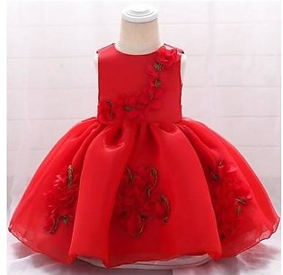 Keaiyouhuo Red Floral Polyester Princess Dress