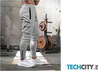 Gymcucgv Gray Pockets Cotton Midweight Sweat Pants