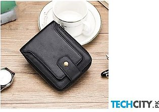 Yicheng Black Genuine Leather Wallet