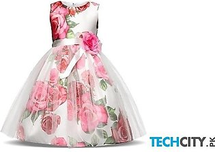 Floral Netted Floral Toddler Stylish Girl Dress