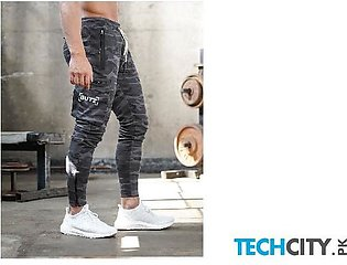 Gymcucgv Camouflage Pockets Cotton Midweight Sweat Pants