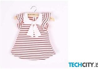 COCKCON Red Bow Stylish Baby Girl Dress