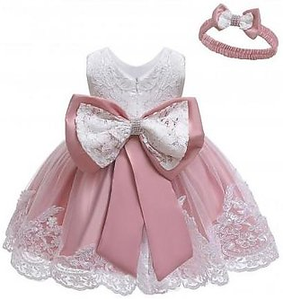 Keaiyouhuo Bean pink Polyester Princess Dress