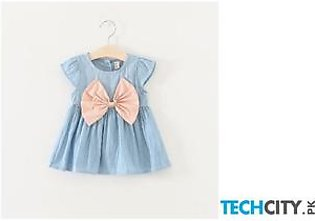 BarbieRabbit Pink O-Necklace Baby Girl Dress